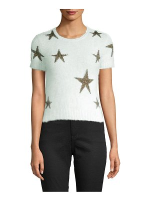 Valentino Avorio Short-Sleeve Sweater