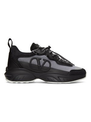 Valentino black and grey  garavani vlogo sneakers