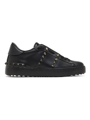 Valentino black  rockstud untitled sneakers