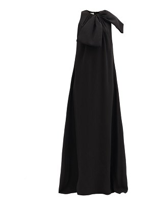 Valentino bow-embellished silk cady couture gown