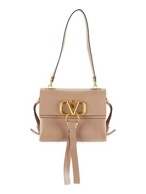 Valentino Boxed Leather Shoulder Bag
