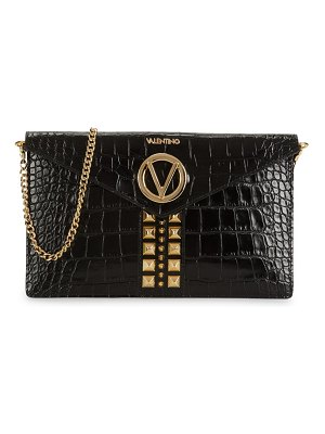 Valentino by Mario Valentino Brienne Croc-Embossed Leather Clutch