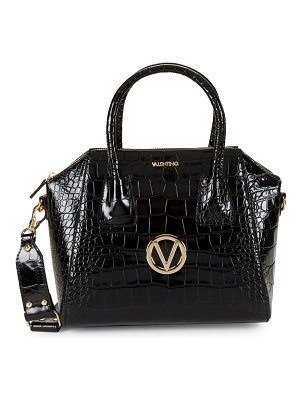 Valentino by Mario Valentino Mini Croco-Embossed Leather Convertible Satchel