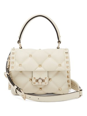 Valentino Candystud Quilted Leather Cross Body Bag