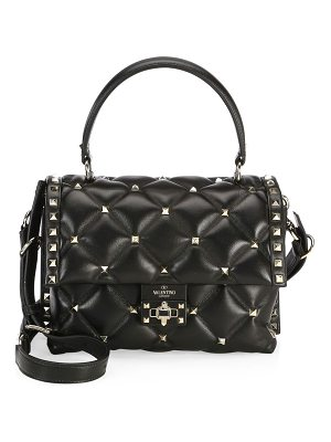 Valentino candystud leather top handle bag