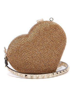 Valentino Carry Secrets Bead Embellished Heart Clutch