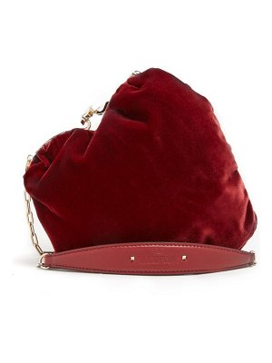 Valentino carry secrets heart shaped velvet bag