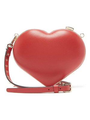 Valentino Carry Secrets Leather Heart Clutch