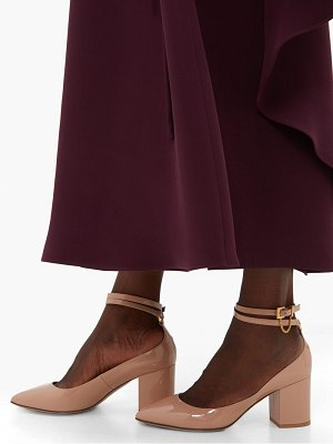 Valentino chain embellished pantent leather pumps