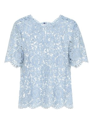 Valentino cotton-blend lace top
