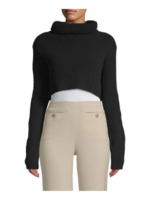 Valentino Cowlneck Cropped Sweater