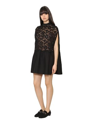 Valentino Crepe & heavy lace dress