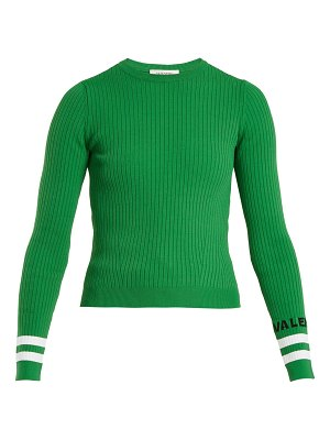Valentino crew neck ribbed knit sweater