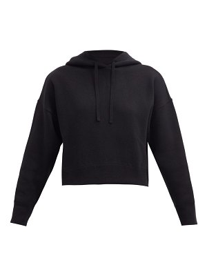 Valentino cropped knitted hooded sweatshirt
