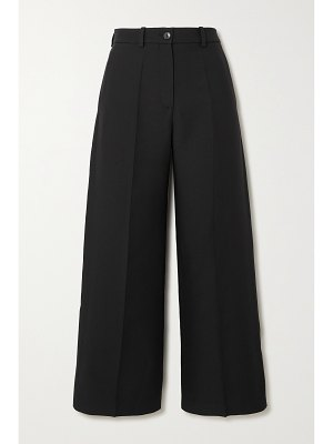Valentino cropped wool and silk-blend crepe wide-leg pants