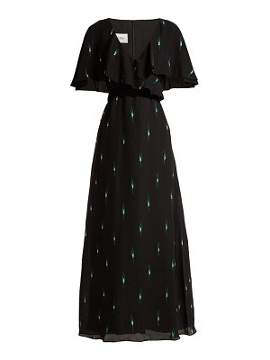 Valentino crystal embellished silk crepe de chine gown