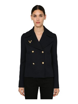 Valentino Double breasted wool pea coat