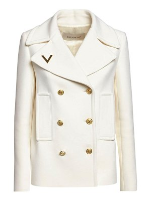 Valentino Double breasted wool peacoat