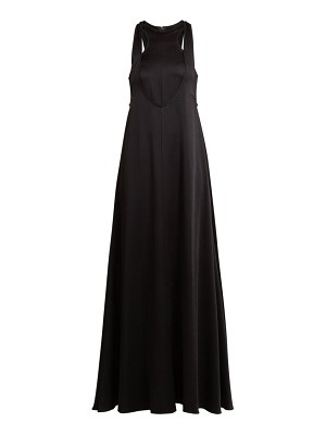Valentino double layered hammered satin gown