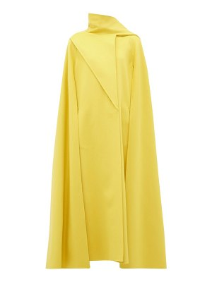 Valentino draped-panel wool-blend cape coat