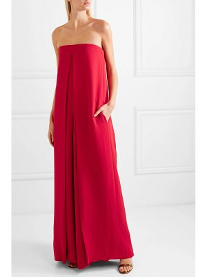 Valentino draped silk-crepe jumpsuit