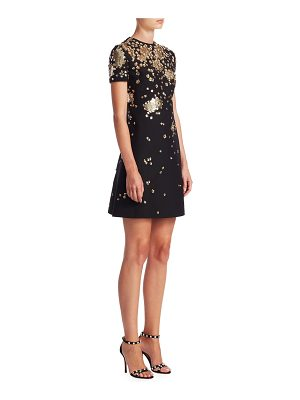Valentino embellished short-sleeve dress
