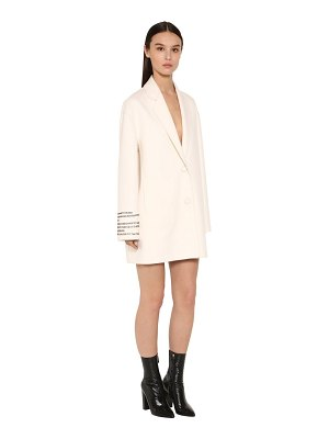 Valentino Embroidered compact short coat