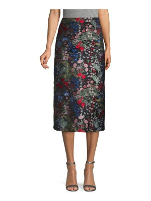 Valentino Embroidered Floral Knee-Length Skirt
