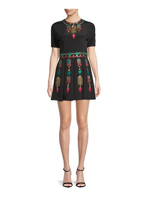 Valentino Embroidered Silk Mini Dress