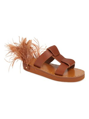 Valentino feather slide sandal