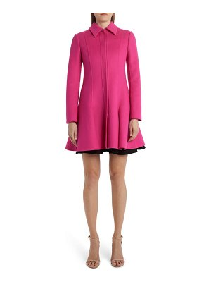 Valentino flared compact wool & cashmere coat