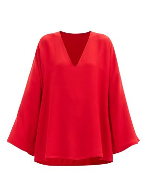Valentino flared-sleeve cady blouse