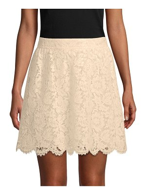 Valentino Floral Lace A-Line Skirt