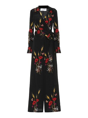 Valentino Floral-printed silk jumpsuit