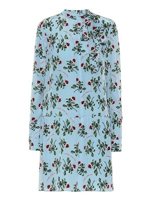 Valentino floral silk-crêpe dress