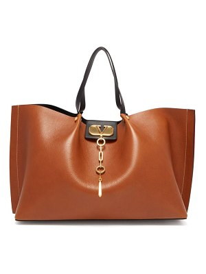 Valentino go logo escape leather tote bag