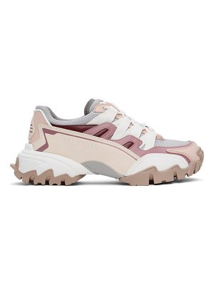 Valentino grey and pink vlogo climbers sneakers