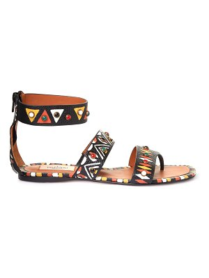 Valentino Hand-painted leather flat sandals