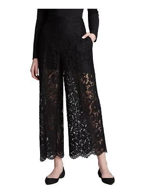 Valentino Heavy Lace Cropped Pants