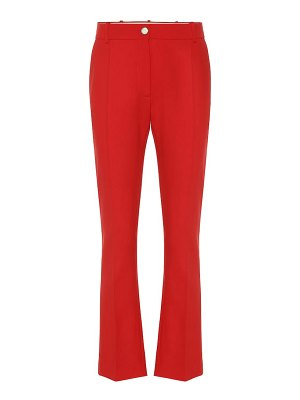 Valentino high-rise flared wool-blend pants