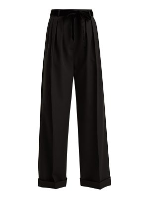 Valentino High-rise wide-leg wool trousers
