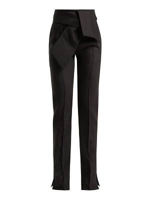 Valentino High-rise wool-blend trousers
