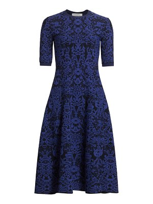 Valentino jacquard knit midi dress