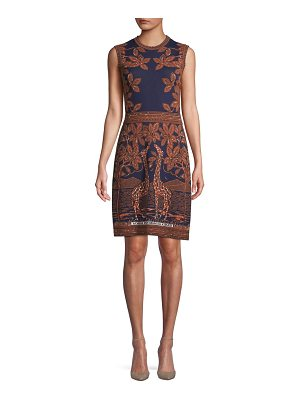 Valentino Knit Printed Sheath Dress
