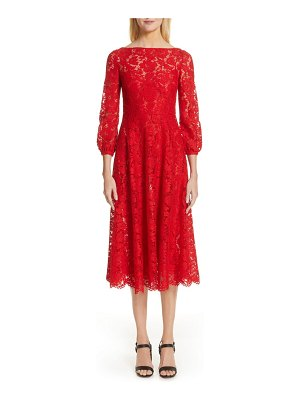 Valentino lace a-line midi dress