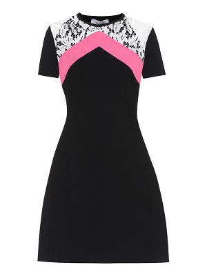 Valentino Lace-trimmed knitted minidress