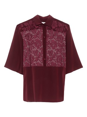 Valentino lace-trimmed silk blouse