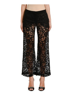 Valentino Lace Wide-Leg Pants