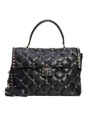 Valentino large candystud lambskin top handle satchel