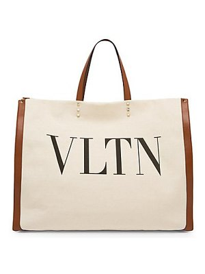 Valentino large canvas logo tote bag
